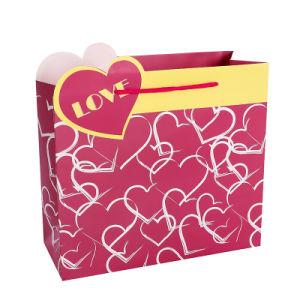 낮은 MOQ는 4c에 의하여 인쇄된 선물 포장 종이 봉지 주식을 도매한다