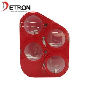 Detron中国の製造業者の赤いアクリルのカウンタートップの携帯電話の充電器の陳列台