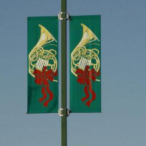 風の証拠の強い金属の旗のホールダーセット