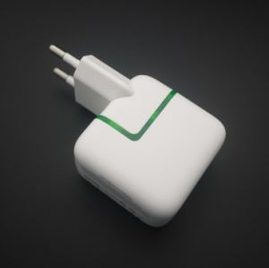 Piso estándar de doble puerto de la UE Multi Cargador de pared USB