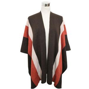 Fashion Pashmina Acrylic Knitted女性冬の縞のショール(YKY4401)