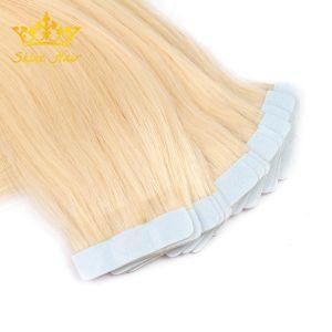 In het groot Haar van het Haar van de Blonde van Extenisons van het Haar van de Band van de Kleur #613 Pu van de blonde het Russische