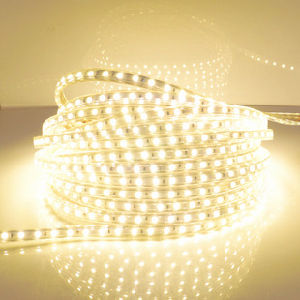 Envío gratis a alta tensión de 220V 3528 color blanco puro/tira de LED blanco cálido tira SMD LED flexibles impermeables 60LED/M 300 LED/5m