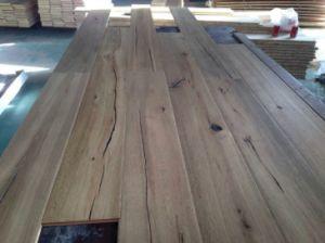Piso de madera de roble ahumado / Parquet / ingeniería de suelos de madera