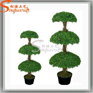 Venda a quente Decoração planta artificial Árvore Topiary Verde