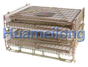 Fio de preformas PET empilhável de dobragem Warehouse Compartimento de Armazenamento