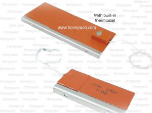 Silicone Heating Mat Silicone Pad Heater Vulcanzied Onto 알루미늄 Panel를 가진 패드 Heaterson Metal Plate Aluminum Panel