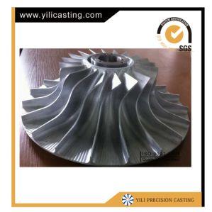 터보를 기계로 가공하는 CNC는 알루미늄 합금 임펠러를 분해한다