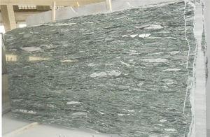 Dalles de granit vert hautement polie granit vert