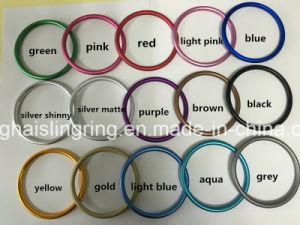 2018Anéis de alumínio coloridos para as amarras do bebé utilize fabricados na China