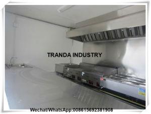 Трактир пиццы обработчика еды с трейлером тележки киоска Crepe полок с клобуком ряда
