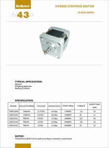 RoHS Two-Pole DC Motor paso a paso para la impresora con cables de la máquina