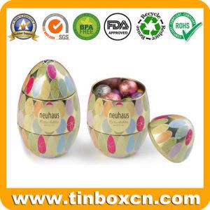 Huevo de pascua latas de metal para regalo Bombones de chocolate caja de embalaje