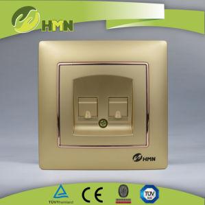 CE/Certifié TUV/CB Norme européenne de la plaque coloré blanc prise double Tél.