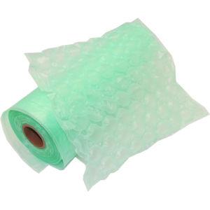 Película material de encargo de la almohadilla del aire de la impresión en color del HDPE, bolso de aire de la película del amortiguador de aire en rodillo