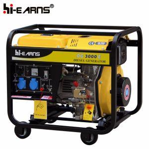 generatore diesel di potere portatile del blocco per grafici aperto 3kw (DG3000E)