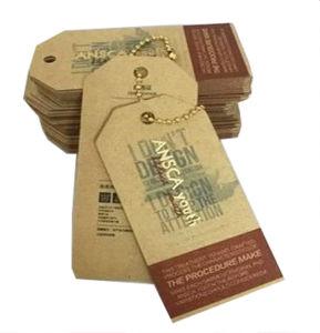 공급 Kraft 종이 꼬리표 실크 스크린 두꺼운 Kraft 종이 꼬리표