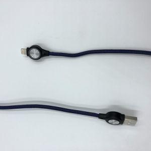 GroßhandelsHandy-Gewebe-Dattel-Kabel umsponnene USB-Kabel-Telefon-Zubehör für Blitz-Kabel für iPhone
