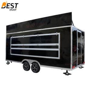 5mのボードの広告を用いる長い移動式ファースト・フードのキオスク