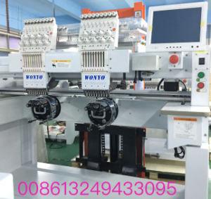 De geautomatiseerde Machine van het Borduurwerk van 2 Hoofden Commerciële voor Borduurwerk GLB/Tshirt/Tubular/Shoes/Sequin/Cording