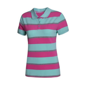 주문을 받아서 만들어진 옷 또는 의류 보통 공백 또는 줄무늬 인쇄하거나 인쇄한 자수 의복 또는 의복 면 불쾌 숙녀 또는 여자의 폴로 티 셔츠