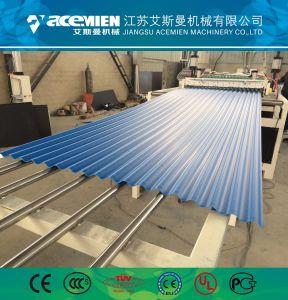 Les Tuiles en PVC de matières premières de l'extrudeuse plastique Ligne d'Extrusion de feuilles de toit ondulé Widht 1130mm 930mm épaisseur 2.0mm Ligne de feuille