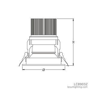 Venda de fábrica feitos sob medida de Encaixe de boa qualidade para baixo a luz para a loja de moda/loja de roupas LC8903z