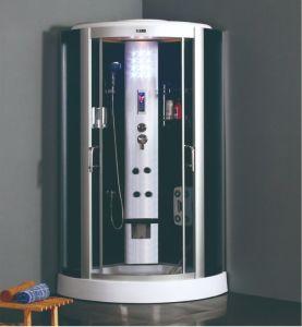 Bajo la bandeja de cristal templado negro de 5 mm asiento ducha Gabinete para Muebles de Baño