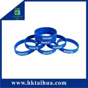 Promoção Seda bracelete de silicone número ímpar de impressão imprimir a sua pulseira de texto