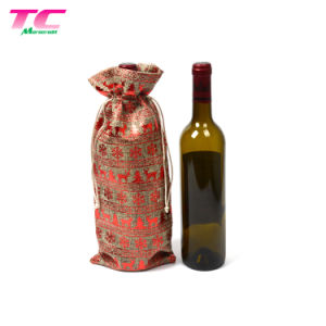664de3ca8 Eco friendly barata sola botella de vino de arpillera de yute Pack Regalo  Bolsa Drawstring