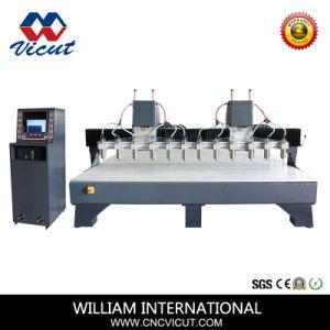 Venta caliente Multi-Head grabado CNC máquina para hacer de la puerta (VCT-2530W-8H)