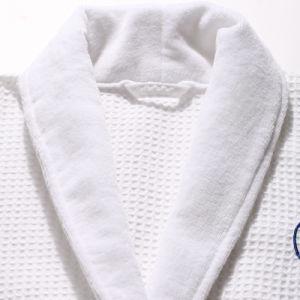 Hôtel de luxe avec gaufres double couche peignoir en coton de haute qualité