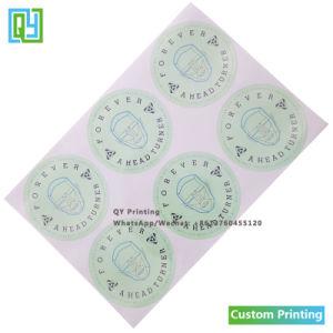 Индивидуальные круглый флакон крышки водонепроницаемый многоразовые наклейки печать