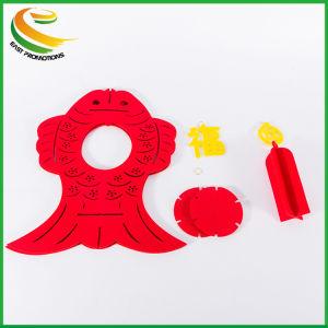 中国の新年の卸し売り高品質の赤のフェルトのランタン