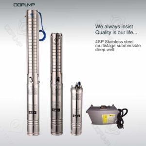tipo d'immersione in olio della pompa sommergibile 2HP di pozzo profondo a più stadi dell'acciaio inossidabile