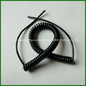 Resistência UV fio espiral flexível cabo enrolado