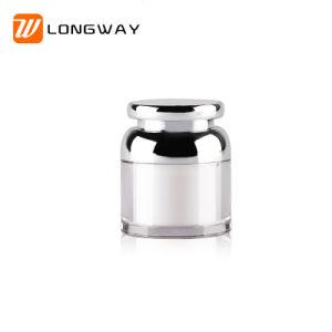50ml最もよい品質の物質的なアクリルの広く利用された高品質の装飾的なクリーム色の瓶の包装