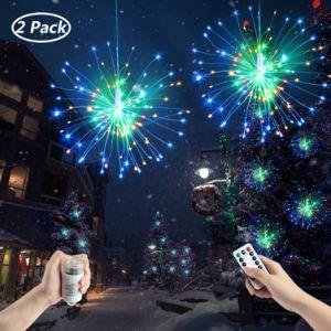 Cadena de fuegos artificiales de luz, Luz de Navidad, la decoración de la luz de la cadena