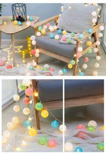 Sfere Crack della decorazione e catena chiara della stella