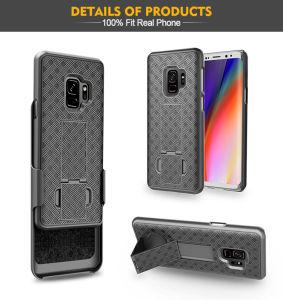 Pistolenhalfter kombiniert Aufbauen-Kickstand USA im Markt-Telefon-Fall für Samsung S9/S9 plus Deckel