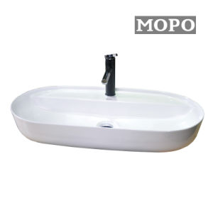 熱い販売の新しい楕円形の大きいサイズの洗面器およびコック
