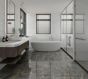 Apartamento de estilo europeo Cocina Baño paredes y suelos de mosaico de mármol pulido de gran tamaño