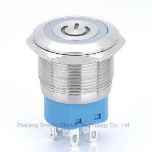 22mmの平らな金属の押しボタンスイッチ