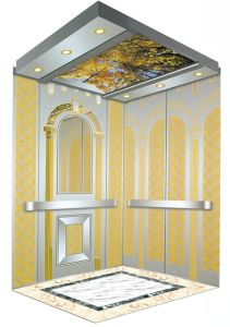 전송자 가정 별장 상품 엘리베이터 황금 에칭 가는선 스테인리스 엘리베이터