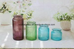 Accepter OEM Vase en verre clair pour la décoration d'accueil