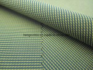 폴리에스테 스판덱스 Yarn-Dyed 가득 차있는 뻗기 격자 무늬 바닷가는 직물을 헐덕거린다