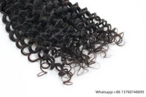 9Uma profunda Brasileira Curl 100% virgem de cabelo humano trama preto natural por grosso