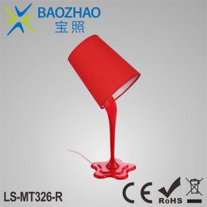 E27 de plástico de la lámpara de mesa + paño TC