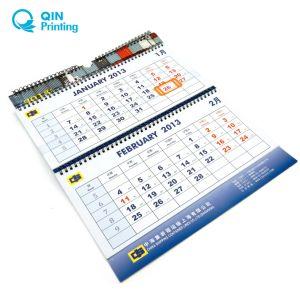 Hete Verkoop die Kalender de van 3 maanden van de Muur van 2016 afdrukken