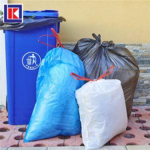 롤에 재생된 별 물개 바닥 HDPE 쓰레기 봉지